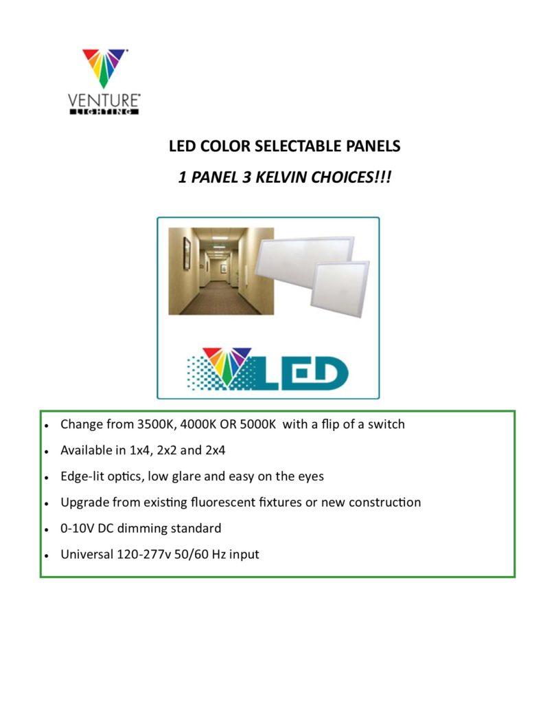 LED COLOR SELECT PANELS